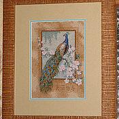 """Картины и панно ручной работы. Ярмарка Мастеров - ручная работа Картина вышитая """"Птица счастья"""". Handmade."""