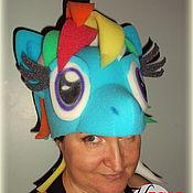 """Работы для детей, ручной работы. Ярмарка Мастеров - ручная работа шапочка из поролона """"Радужный пони"""". Handmade."""