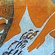 Люди, ручной работы. Картина Купальщица выполненная на хб ткани в технике горячего батика. Мария. Ярмарка Мастеров. теплый колорит