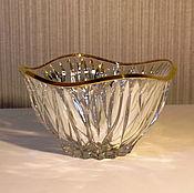 Винтаж ручной работы. Ярмарка Мастеров - ручная работа Итальянская винтажная ваза  хрусталь с позолотой. Handmade.
