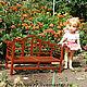 Кукольный дом ручной работы. Ярмарка Мастеров - ручная работа. Купить Кукольная садовая скамейка. Handmade. Кукольная миниатюра