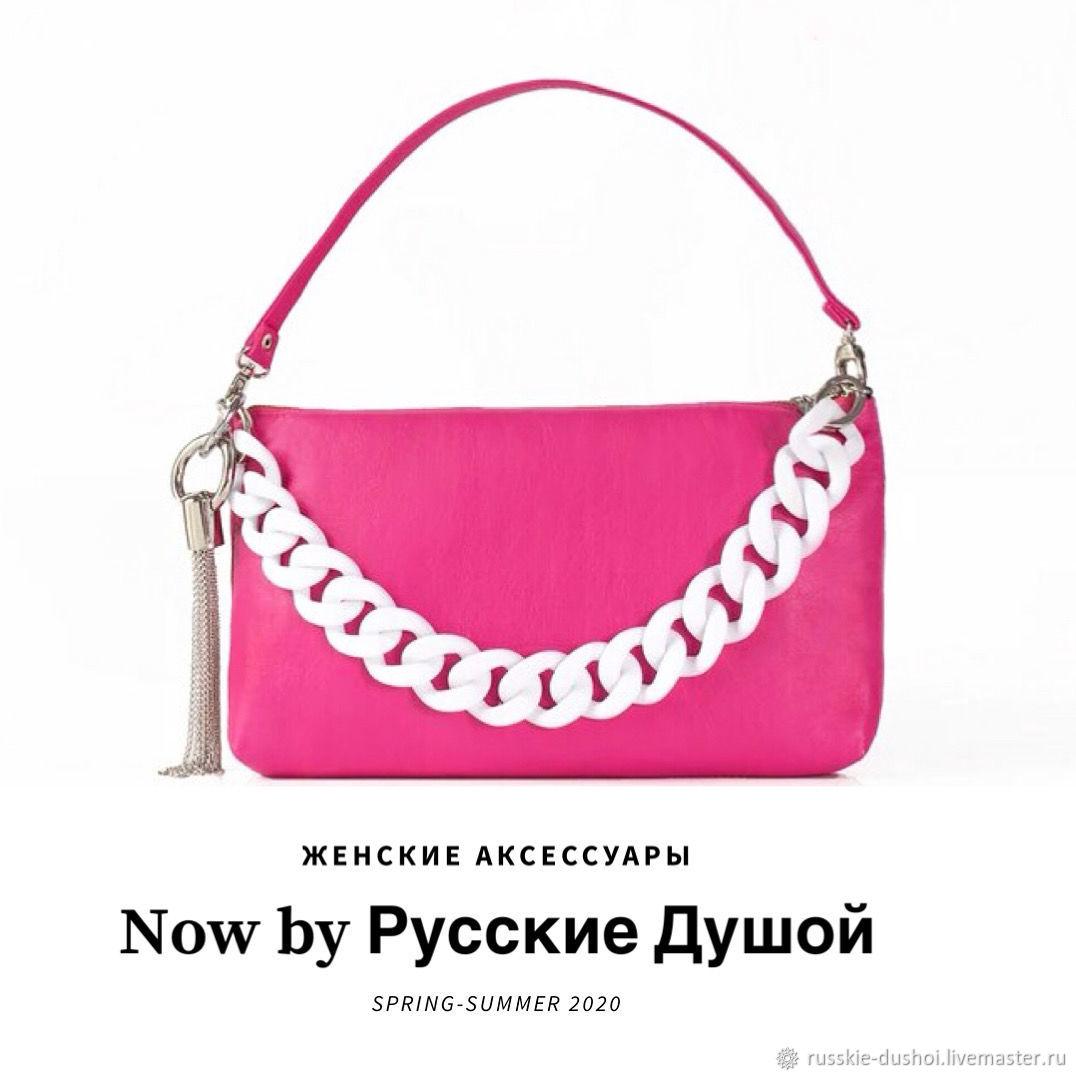 Fagottino Leather Handbag (Fucsia), Men\'s bag, Moscow,  Фото №1