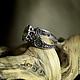"""Кольца ручной работы. Заказать Кольцо """"Портал"""" с цитрином. BlackTree (InSilver). Ярмарка Мастеров. Натуральные камни, треугольники, кольцо из серебра"""