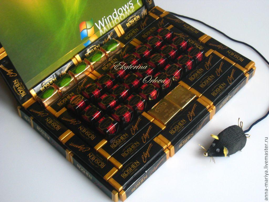 Ноутбуки из конфет своими руками 224