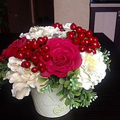 Цветы и флористика ручной работы. Ярмарка Мастеров - ручная работа Букет ручной работы. Красные розы. Handmade.