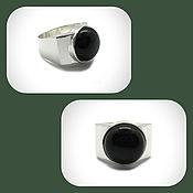 Украшения handmade. Livemaster - original item The ring is large with black onyx. Signet ring. Men`s ring with stone. Handmade.