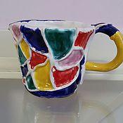 Посуда ручной работы. Ярмарка Мастеров - ручная работа Керамическая кружка для чая. Handmade.