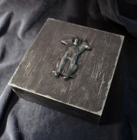 Готика ручной работы. Ярмарка Мастеров - ручная работа. Купить Шкатулка с Цербером (на заказ). Handmade. Черный, подземный