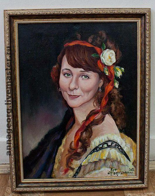 Люди, ручной работы. Ярмарка Мастеров - ручная работа. Купить Женский портрет на заказ по фото. Handmade. Портрет по фото, портрет