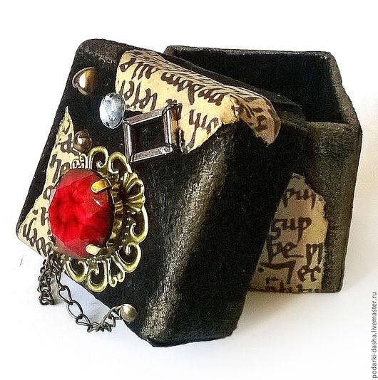 Подарочная упаковка ручной работы. Ярмарка Мастеров - ручная работа. Купить Коробочка для украшений, упаковка, натуральная кожа. Handmade. Черный