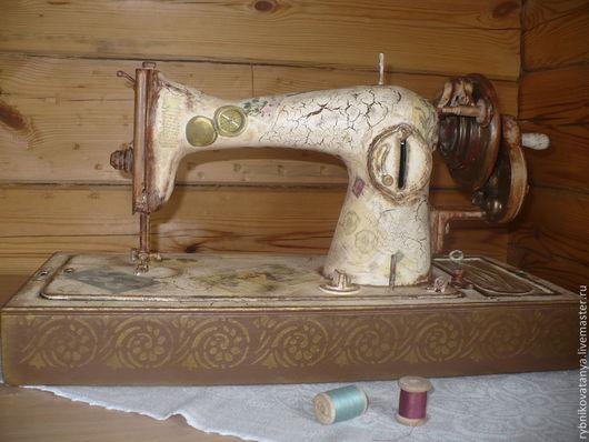 Экстерьер и дача ручной работы. Ярмарка Мастеров - ручная работа. Купить Швейная машинка. Handmade. Бежевый, старение, украшение интерьера