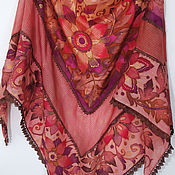 Аксессуары handmade. Livemaster - original item batik shawl Bacchus