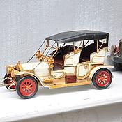 Материалы для творчества ручной работы. Ярмарка Мастеров - ручная работа Ретро-модель автомобиля с тентом старинный бежевый. Handmade.