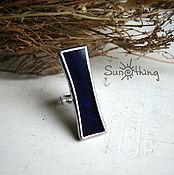 Украшения handmade. Livemaster - original item Ring from dark blu glass. Handmade.