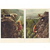 Винтаж ручной работы. Ярмарка Мастеров - ручная работа 1950-е годы. Мишки скалолазы. Винтаж. Handmade.