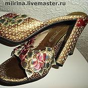 Обувь ручной работы. Ярмарка Мастеров - ручная работа летний изумруд. Handmade.