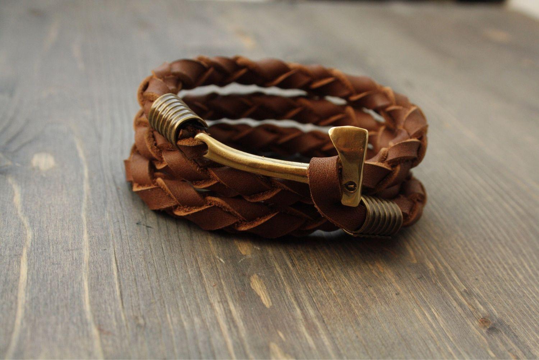 Leather bracelet - Axe, Bead bracelet, Volgograd,  Фото №1