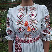 Русский стиль handmade. Livemaster - original item Women`s shirt with embroidery. Embroidery scene.. Handmade.