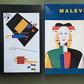Винтаж handmade. Livemaster - original item Set of cards Malevich 10 pieces with envelopes in a box 1990. Handmade.