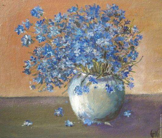 Картины цветов ручной работы. Ярмарка Мастеров - ручная работа. Купить Букет. Handmade. Синий, букет цветов, картина