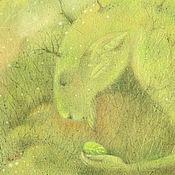 Картины и панно ручной работы. Ярмарка Мастеров - ручная работа Зеленое сердце леса...Картина-принт на холсте.. Handmade.