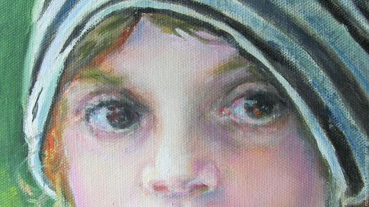 Люди, ручной работы. Ярмарка Мастеров - ручная работа. Купить Портрет Оливии. Handmade. Картина в подарок, портрет на заказ, холст