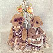 Куклы и игрушки ручной работы. Ярмарка Мастеров - ручная работа Мишки тедди. Пара Савелий и Серафима.. Handmade.