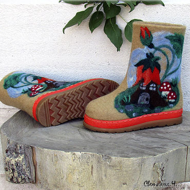 Footwear handmade. Livemaster - original item Children`s boots Lesnaya Skazka. Handmade.