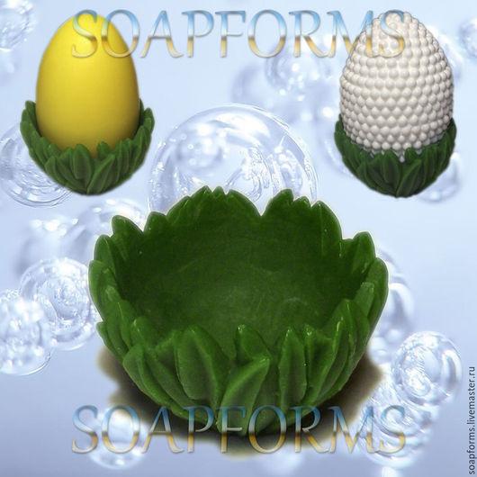 Силиконовая форма для мыла `Травка-подставка для яйца`