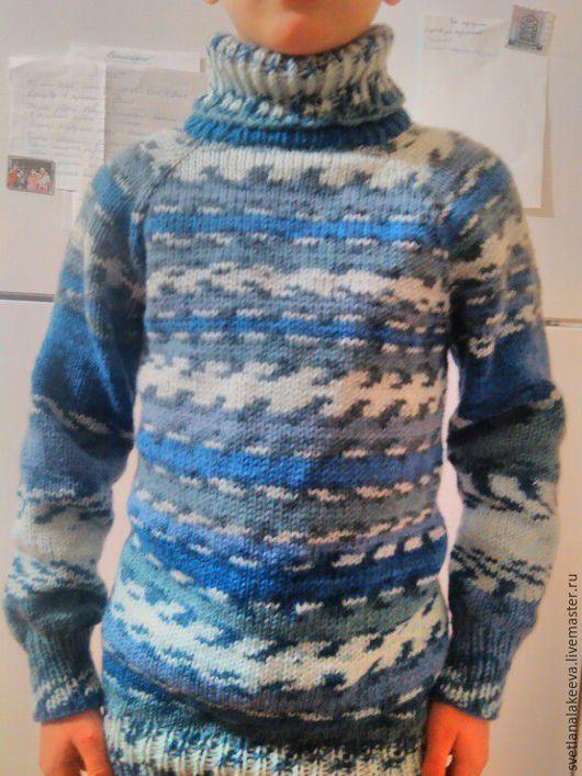Одежда для мальчиков, ручной работы. Ярмарка Мастеров - ручная работа. Купить свитер детский. Handmade. Комбинированный, свитер для мальчика