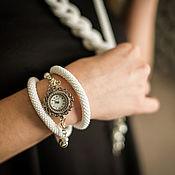 """Часы наручные """"Белый"""" однотонные в белом цвете"""