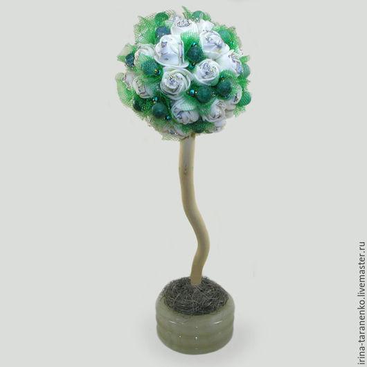 Дерево-топиарий из агата `Зеленый подарок`