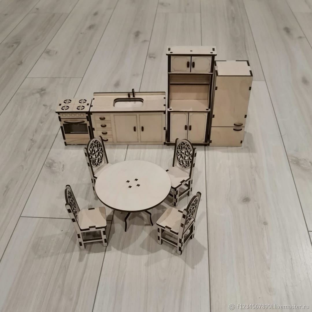 Кухня, Мебель для кукол, Мытищи,  Фото №1