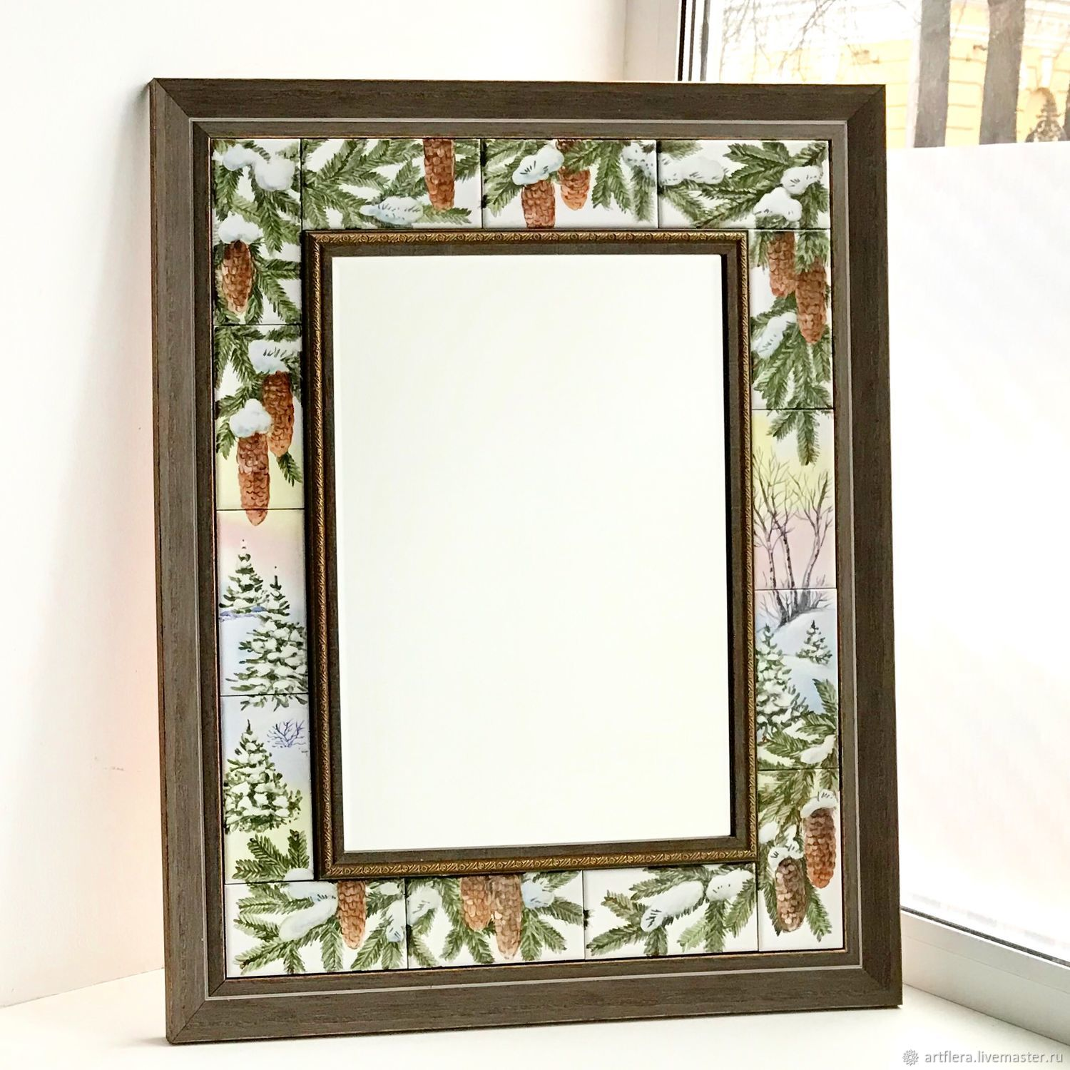 The painting on the tiles : Mirror Winter forest, Mirror, Kazan,  Фото №1