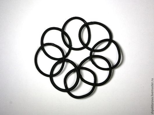 Другие виды рукоделия ручной работы. Ярмарка Мастеров - ручная работа. Купить Резинки для волос черные тонкие основа. Handmade.