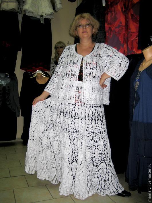 """Костюмы ручной работы. Ярмарка Мастеров - ручная работа. Купить Костюм """" Барыня"""" жакет+ юбка в пол. Handmade. Белый"""