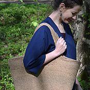 Классическая сумка ручной работы. Ярмарка Мастеров - ручная работа Летняя сумка из джута. Handmade.