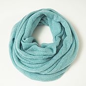 Аксессуары handmade. Livemaster - original item Snudy: Snood knitted from kid-mohair in two turns. Handmade.