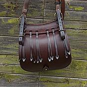 Сувениры и подарки handmade. Livemaster - original item Hunting bag made of Buttero Alkantara leather, bag mod. VD. Handmade.