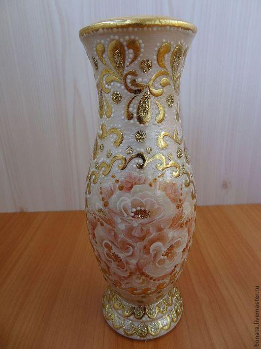 """Вазы ручной работы. Ярмарка Мастеров - ручная работа. Купить Ваза """" Перламутр"""". Handmade. Белый, ваза для цветов, для дома"""
