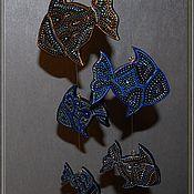 Для дома и интерьера ручной работы. Ярмарка Мастеров - ручная работа Мобильные рыбки. Handmade.