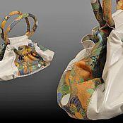 """Классическая сумка ручной работы. Ярмарка Мастеров - ручная работа """"Загадочный лес"""" Кожа с принтом. Handmade."""