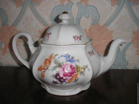 Винтажная посуда. Ярмарка Мастеров - ручная работа. Купить чайник заварочный. Handmade. Комбинированный, фарфор