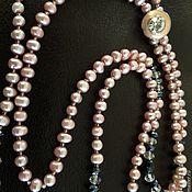 Украшения handmade. Livemaster - original item A necklace of pink pearls. Handmade.