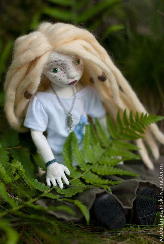 Коллекционные куклы ручной работы. Ярмарка Мастеров - ручная работа. Купить .. Майя .. авторская текстильная шарнирная кукла. Handmade.