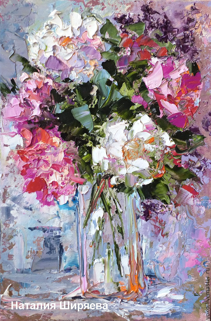 'Abstract Bouquet of Peonies' - oil painting bouquet of flowers, Pictures, Voronezh,  Фото №1