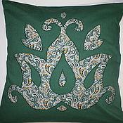 Для дома и интерьера ручной работы. Ярмарка Мастеров - ручная работа Подушка диванная Восточная 10 зеленая. Handmade.