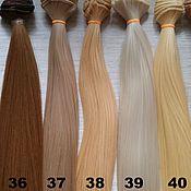 Волосы для кукол ручной работы. Ярмарка Мастеров - ручная работа Трессы для кукол Прямой волос 25см. Handmade.