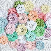 Материалы для творчества handmade. Livemaster - original item Free shipping Set of flowers knitted spring volume. Handmade.