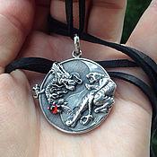 Украшения handmade. Livemaster - original item Tiger and Dragon Pendant / Yin and Yang of 925 unisex. Handmade.